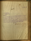 Letter from E. S. Babcock to J. C. Baily, Esq.