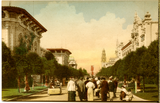 El Prado looking west, Exposition, 1915