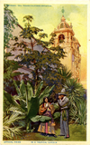 In a tropical garden, Exposition, 1914