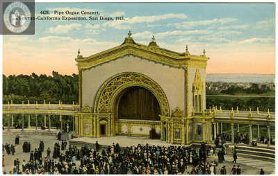 Pipe Organ concert, Exposition, 1915