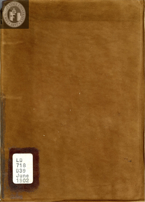 White and Gold yearbook, 1902