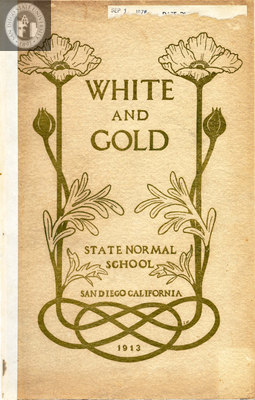White and Gold yearbook, 1913