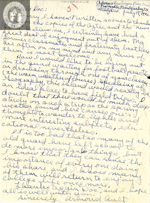 Letter from Armond A. Ault, 1942