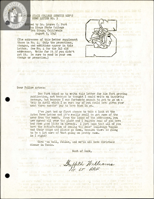 The Aztec News Letter, Number 5, August 5, 1942