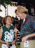 Los Angeles reporter with Brenda Schumacher at San Diego Pride, 1995