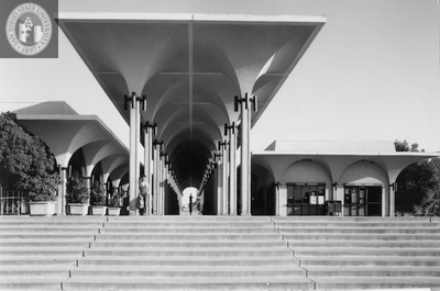 Aztec Center, with prominent colonnade, 1968