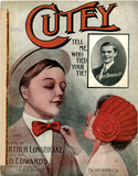 Cutey tell me who tied your tie? 1909