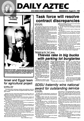 Daily Aztec: Wednesday 08/31/1983
