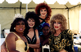 Four drag queens and one drag king at San Diego Pride, 1995